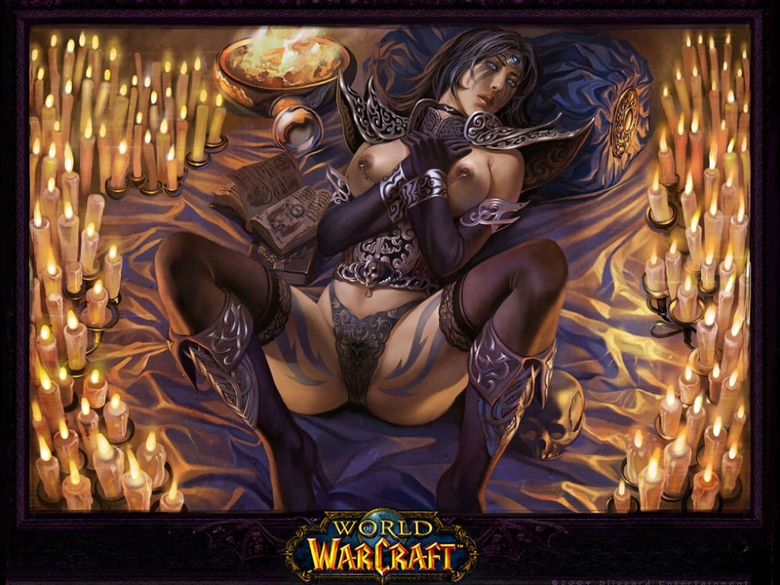 Sexy girl World of Warcraft art erotic picture